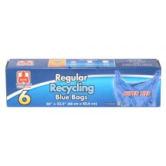 Tuff Guy Regular Recycling Bags Blue 6 Pk
