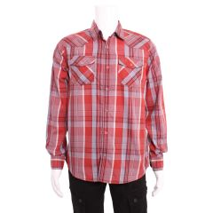 Urban Vintage Men's Long Sleeves Western Style Shirt
