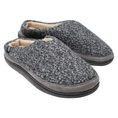 Isotoner High Back Slipper Charcoal Tweed