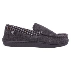 Isotoner Tweed And Plaid Moccasin Grey