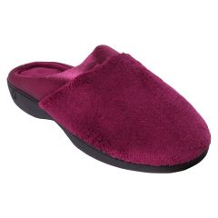 Isotoner Microterry And Satin Slipper Fuchsia