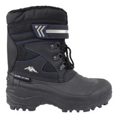 Arctic Ridge Boy's Lace Up Velcro Winter Boots Black