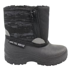 Arctic Ridge Boy's Zip Up Winter Boot Black