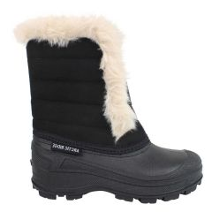 Arctic Ridge Slip On Fur Lined Winter Boots Black
