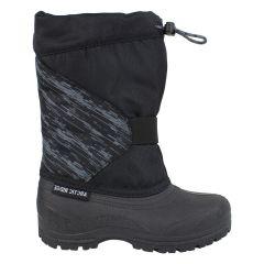 Arctic Ridge Slip On Drawstring Winter Boot Black