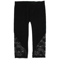 Guilty Women's Plus Size Capri Lace Leggings Black