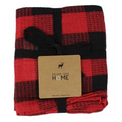 Color Your Home Buffalo Plaid Tea Towels 3 Pack Assorted