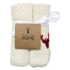 Colour Your Home Festive Cotton Facecloths 4Pk