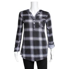 2 Dye 4 Women's Plaid Hooded Shirt