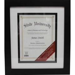 Wood Fillet Document Frame, Black 8.5in x 11in