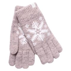 Fits Wool Snowflake Glove Taupe