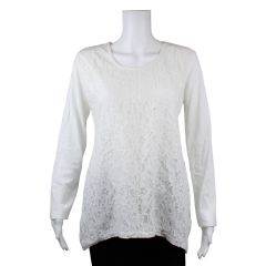 Paradisio Authentiques Lace Front Long Sleeve Shirt