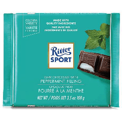 Ritter Sport Dark Chocolate With Peppermint Filling 100g