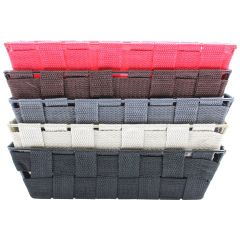 Mini Nylon Basket Storage Trays 5X10X3in Assorted Colors