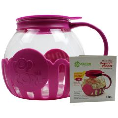 Ecolution Microwave Glass Popcorn Popper 3 Qt With Multipurpose Lid Assorted Colors