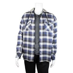 NXT Gen Hooded Plaid Flannel Shirt With Snaps