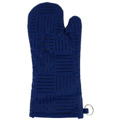 Oven Mitt With loop Blue