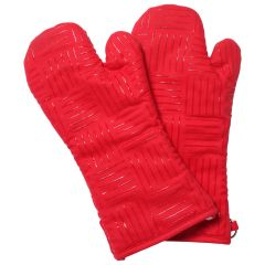 Oven Mitt With Loops Red