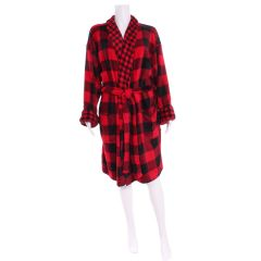 Sandra & Tiffany Plush Buffalo Plaid Robe