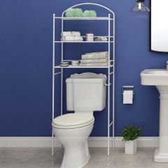 Metal Over The Toilet Storage Rack White