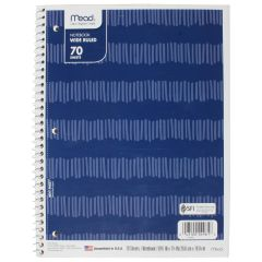 Mead Wide Ruled Notebook 70 Sheets Assorted