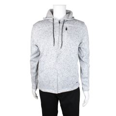 Burnside Fleece Knit Zip Up Hoodie Grey