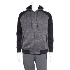 Burnside Fleece Raglan Zip Up Hoodie Black
