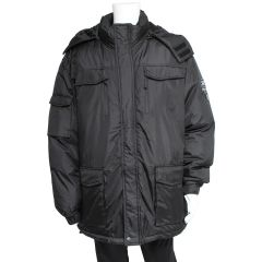 Motion Gear Big And Tall Hooded Parka Black