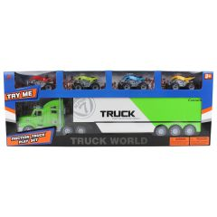 Truck World Container Truck with 4 Quad Bikes