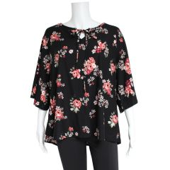 Guilty Plus Size Peasant Blouse Floral Print