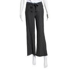 Guilty Knitwear Women's Belted Striped Culotte Pants