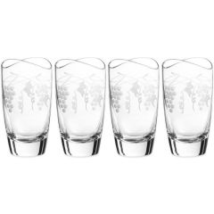Qualia Orchard Double Old Fashioned Glass High Ball Set of 4