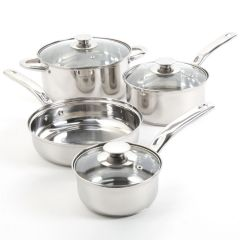 Sunbeam Ansonville Stainless Steel Cookware 7 Piece Set