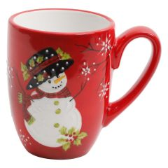 Snowman Hand Painted Mug 14oz