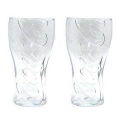 Coca Cola Fountain Glass Tumbler 16oz Set of 2