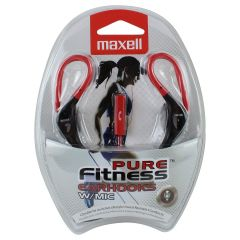 Maxell Pure Fitness Earhooks With Mic