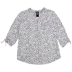 2 Dye 4 Women's Print Blouse 3/4 Sleeves & Tab