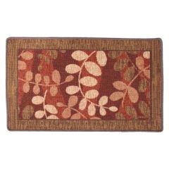Leaf Printed Tufted Door Mat 18 X 30in