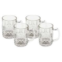 Jewelite Glass Beer Mug 4 Piece Set