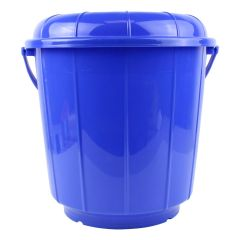 Plastic Bucket With Lid And Handle 2.9 Gallon Assorted Colors