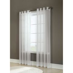 Semi Sheer Voile Window Panels Ivory 2Pk