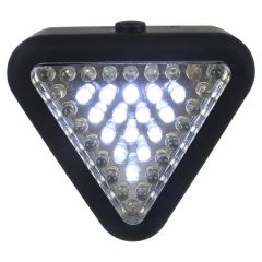 Triangle LED Light Red and White Flash