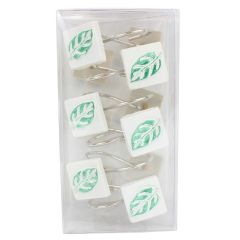 Leaf Shower Curtain Hooks 12Pk