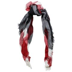 BB Collection Plaid Scarf Black/Red