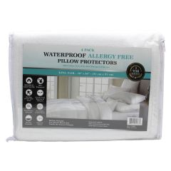 Lily Collection Waterproof Allergy Free Pillow Protector King 4Pk