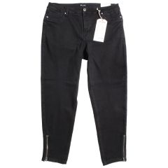 Suko Jeans Plus Women's Butter Denim with Zippers Black