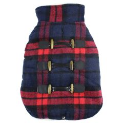 Hotel Doggy Melton Plaid Coat Navy