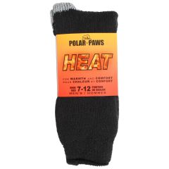 Polar Paws Heat Men's Thermal Socks Size 7-12 Assorted