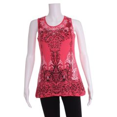 Paradisio Mosaic Print Tank Top with Lace