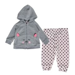 Funny Bunny Girl's Jacket & Joggers 2 Piece Set